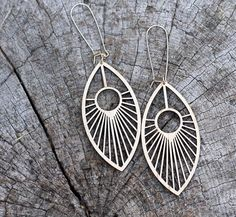 EYE of the PEACOCK Earrings // made from salvaged woods