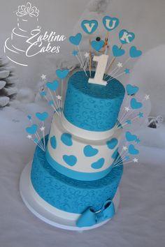 Blue heart cake by Zaklina