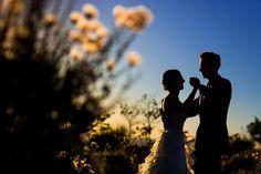 Gorgeous twilight shot at santa fe wedding, photos by Brett Butterstein Photography | via junebugweddings.com
