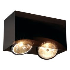 The low-voltage QRB version of our ACRYLBOX ceiling light is made from acrylic glass and thus appears in an elegant, black-translucent look. The socket is adjustable allowing the individual orientation of light. Thanks to the already incorporated transformer, the ACRYLBOX is supplied ready for direct connection to 230V mains supply. This luminaire is compatible with bulbs of the energy classes: D - A+