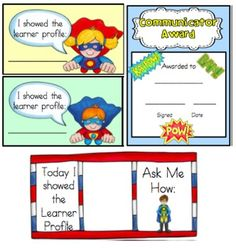 IB PYP Learner Profiles SUPER HEROES