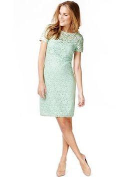 Slash Neck Floral Lace Shift Dress - Marks & Spencer