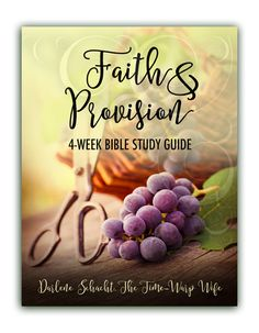 FREE PRINTABLE BIBLE STUDY - Faith & Provision a 4-WEEK Bible Study Guide Journal from The Time Warp Wife @timewarpwife