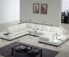 modern white sectional. Modern White Bonded Leather Sectional Sofa O