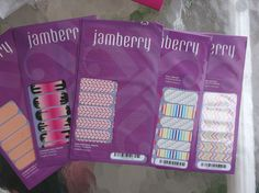 JAMBERRY  NAIL WRAPS LOT OF 5 NEW RETIRED CHEVRON CLOWN NIGHT LIFE HEARTS #JAMBERRY