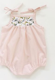 Handmade Vintage Style Baby Rompers With Floral Detail | SwallowsReturn on Etsy
