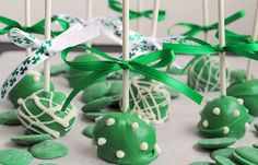 Cookie Dough Cake Pop Truffle - so cute made in green for St. Patrick's Day!