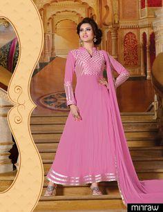 Beautiful pink party wear salwar kameez