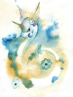 Pokemon. So beautiful. Pokémon.  Dragon. Dragonair.