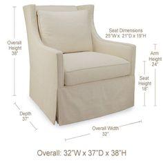Layla Grayce California Slipcovered Chair @Layla Grayce