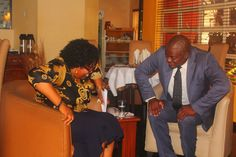 Professor Garba and Host,Femi Ipadeola share a joke after the recording