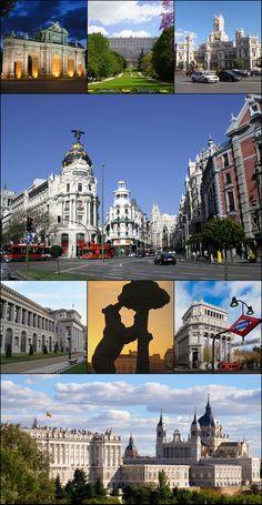 Madrid es la capital de espana. Hay muchas attracciones (Gusta museo, parque y muchos arquitectura.) usted puede tomar mas potos en Madrid con muchos edificios.