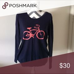 GAP bicycle sweater Adorable cotton sweater. Lighter weight. Does run a smidge smaller would likely fit a medium better GAP Sweaters Crew & Scoop Necks