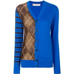 Marni asymmetric cardigan (1,435 CAD) ❤ liked on Polyvore featuring tops, cardigans, blue, long sleeve tops, v neck cardigan, asymmetrical cardigan, blue cardigan and v neck long sleeve top