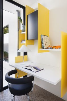 happy yellow work space. Grand Designs Australia: Pursuit of Happiness - Completehome