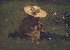 Willem de Zwart, Girl in the grass 1895