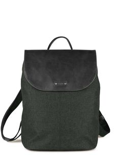 OLLI O13 :: Rucksack :: Materialmix :: Kunstleder :: City :: forest :: brown :: chili :: denim :: stone :: noir