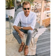 """Tim Melideo on Instagram: """"Today at the @HickeyFreeman presentation at the @TheStandard East Village. Holy crap the view was amazing (photos coming soon… a lot of em) and the cocktail was delicious. Gin, soda, lemon, dill, cucumber. #timsoutfit #nyfwm All items are tagged. Get the full details at www.stayclassicblog.com or sign up with your email at www.liketk.it/1Ae2T to get info direct to your inbox when you like a photo with the #liketkit @liketoknow.it"""""""