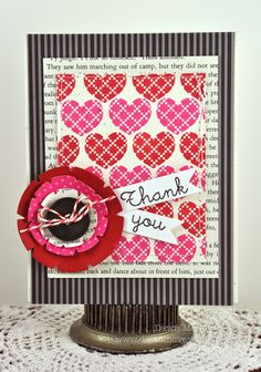 Heart-To-Heart Thank You Card by Dawn McVey for Papertrey Ink (April 2012)