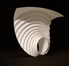 Paper sculptures by Matthew Shlian