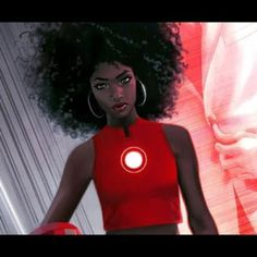 Marvel Just Unveiled Their New Iron Man, And She's a Young Black Woman. Riri Williams will take over for Tony Stark in the iconic comic. New Iron Man, Iron Man Suit, Letitia Wright, Brian Michael Bendis, Black Actors, Black Cartoon, Cosplay, Young Black, Marvel Dc