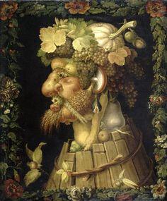 Art History's Most Outrageous Beards and Mustaches - Artsy Giuseppe Arcimboldo, Louvre, Food Painting, Magnum Opus, Paul Gauguin, Beard No Mustache, Fruit Art, Salvador Dali, Vincent Van Gogh