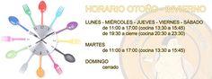 #horarioRestaurante, para la nueva TEMPORADA OTOÑO E INVIERNO de La Mirona.
