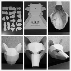 Wintercroft ® - Low-Poly Masks They supply the template... Lots variety!
