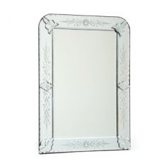 Rounded Edge Etched Mirror