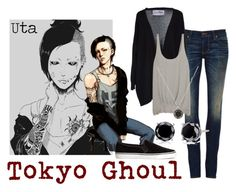 """Uta - Tokyo Ghoul"" by valeriaest ❤ liked on Polyvore featuring 6397, FourMinds, Elizabeth and James, H&M and Marc by Marc Jacobs"