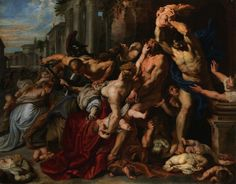 Peter Paul Rubens 1577 – 1640 Massacre of the Innocents oil on panel × 182 cm) — ca. 1610 Art Gallery of Ontario, Toronto Peter Paul Rubens biography This work is linked to Matthew Peter Paul Rubens, Baroque Painting, Baroque Art, Pedro Pablo Rubens, Rubens Paintings, Oil Paintings, Most Expensive Painting, Expensive Art, Art Gallery Of Ontario