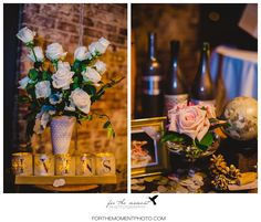 White Milk Vase with Pink White Roses at Moulin Events Wedding Venue