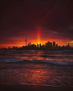 Gotham City Toronto - capturing moody sunsets like these will forever be a favorite! Image by @bora.vs.bora #MoodyGrams • Add some mood to…