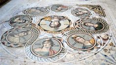 2200 year old Greek floor mosaic excavated in southern Turkey, near Syrian border. It depicts the nine Muses of Greek arts and sciences (close up) Ancient Greek City, Ancient Rome, Ancient History, Art History, Underwater City, Ancient Greek Architecture, Art Antique, Pantomime, Roman Art