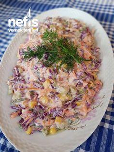 Carrot Purple Cabbage Salad with Yogurt potato al horno asadas fritas recetas diet diet plan diet recipes recipes Real Food Recipes, Diet Recipes, Cooking Recipes, Turkish Recipes, Ethnic Recipes, Yogurt, Food Porn, Good Food, Yummy Food