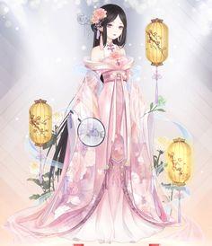 nice Hm, let& make this. Xinyi again. Manga Anime, Manga Girl, Anime Chibi, Anime Art, Anime Girls, Art Kawaii, Kawaii Anime, Dress Anime, Character Inspiration