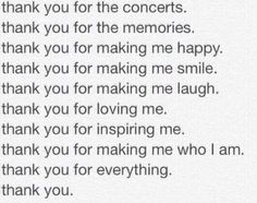 Thank you, all the bands that have saved lives, we can never repay you for what you've done for us. Thank you.