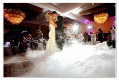 first dance wedding idea, dry ice