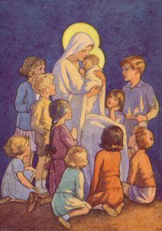 "Margaret Tarrant Christmas ""The Christmas Story"" Vintage Bookplate 1941"