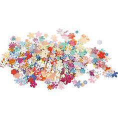#Bloem #pailletten, d: 5-20 mm, 250 gr, kleuren assorti