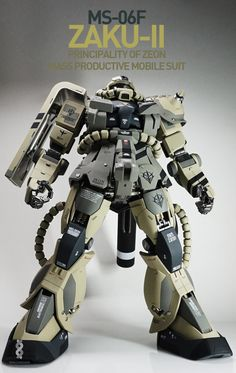 GUNDAM GUY: PG 1/60 MS-06F Zaku II - Customized Build