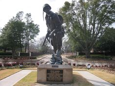 Iron Mike statue at Ft. Bragg NC, in honor of Airborne Troops.  Ft Bragg is home to the 82nd  Airborne Div