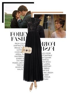 """""""My Favourite Book: Pride & Prejudice"""" by veronicamastalli ❤ liked on Polyvore featuring Needle & Thread, Natasha Couture and Gianvito Rossi"""
