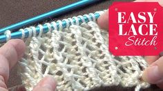 www.joannesweb.com Nice lace stitch with pretty volume. Use bigger size needles so it's more open. //// Instructions Use 2 or needle sizes larger than what t...