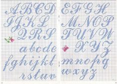 Thrilling Designing Your Own Cross Stitch Embroidery Patterns Ideas. Exhilarating Designing Your Own Cross Stitch Embroidery Patterns Ideas. Cross Stitch Alphabet Patterns, Embroidery Alphabet, Cross Stitch Letters, Letter Patterns, Cross Stitch Charts, Cross Stitch Designs, Stitch Patterns, Alphabet Cursif, Cursive Alphabet