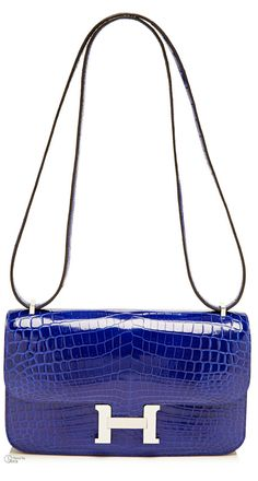 Hermes ● Shiny Electric Blue Nilo Constance Elan        H