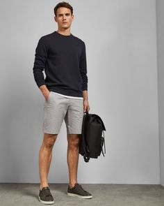 Casual Shorts Outfit, Outfits Casual, Stylish Mens Outfits, Mode Outfits, Short Outfits, Beach Outfits, Guy Summer Outfits, Men's Casual Fashion, Smart Casual Shorts