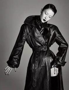Long Leather Coat, Leather Jacket, Jackets, Fashion, Leather, Monochrome, Studded Leather Jacket, Down Jackets, Moda