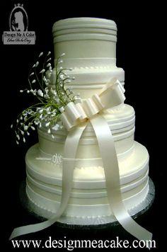 Buttercream Cakes with fondant stripes
