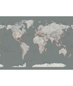 Vintage style world map deco wallpaper mural wallpaper mural vintage style world map deco wallpaper mural wallpaper mural allposters dining room ideas pinterest wallpaper murals room ideas and room gumiabroncs Images
